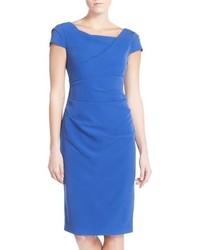 Ruched matte stretch crepe sheath dress medium 430363