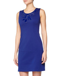 Vince Camuto Sleeveless Ponte Shift Dress Sodalite Blue