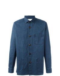 Schnaydermans Overshirt Overdyed One Shirt Blue