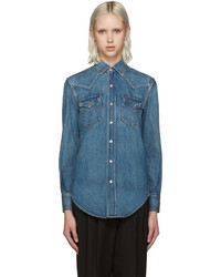 Saint Laurent Blue Denim Nashville Shirt
