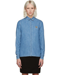 Kenzo Blue Denim Tiger Shirt