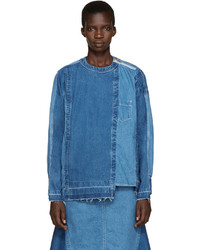 Sacai Blue Reconstructed Denim Shirt