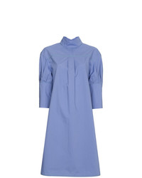 Marni Short Sleeved Poplin Shirt Dress