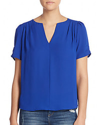Split v neck blouse medium 425850