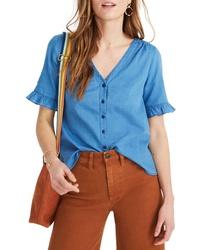 Madewell Village Ruffle Sleeve Shirt
