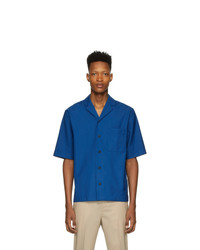 3.1 Phillip Lim Blue Wool Notched Lapel Shirt