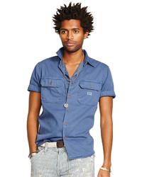 Denim & Supply Ralph Lauren Camouflage Cotton Sport Shirt