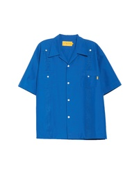 UNION LOS ANGELES Guyaberra Short Sleeve Button Up Camp Shirt