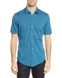 BOSS Robb Slim Fit Jersey Short Sleeve Sport Shirt