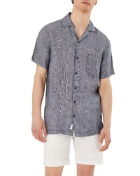 Onia Short Sleeve Button Up Dobby Camp Shirt