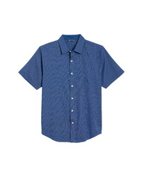 Cutter & Buck Windward Jigsaw Short Sleeve Button Up Shirt
