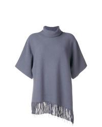 Fabiana Filippi Fringed Short Sleeve Sweater