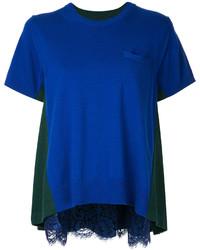 Lace trim short sleeve sweater medium 4982585