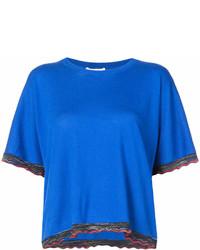 Derek Lam 10 Crosby Short Sleeve Sweater With Rib Trim