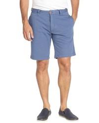 Tailor Vintage Blue Double Jersey Cotton Shorts
