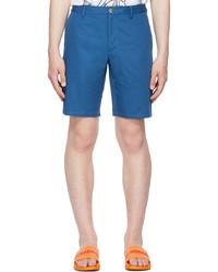 Burberry Blue Logo Appliqu Chino Shorts