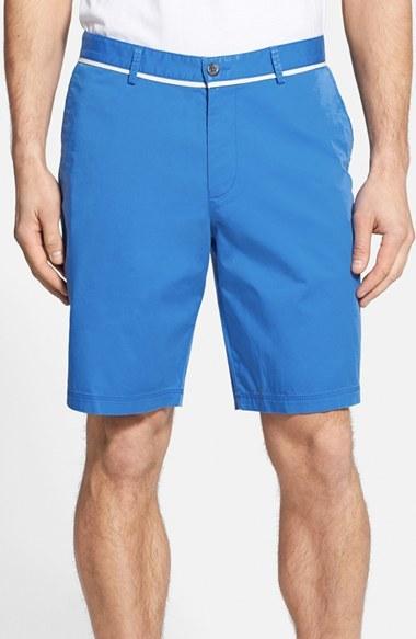 91dc567b ... Hugo Boss Boss Clyde Flat Front Gabardine Stretch Cotton Shorts ...