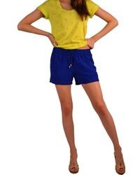 Splendid Cobalt Rayon Shorts