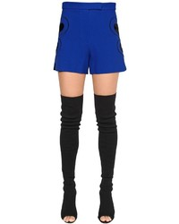 Elie Saab Crepe Shorts W Velvet Hearts
