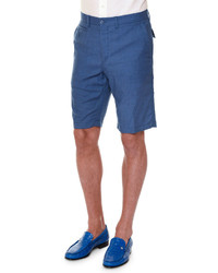 Stefano Ricci Flat Front Cashmere Shorts