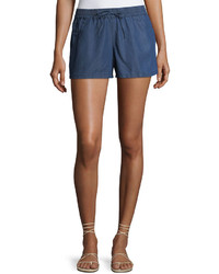 French Connection Little Venice Chambray Pull On Shorts