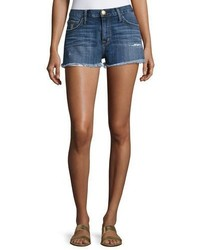 Current/Elliott The Boyfriend Cutoff Shorts W Raw Edge Hem