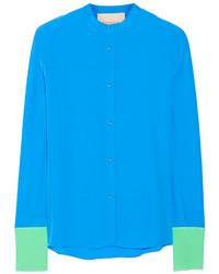 Roksanda color block silk crepe de chine blouse medium 145885