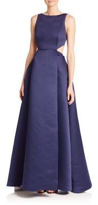 686c512f354013 Halston Heritage Sleeveless Silk Blend Ball Gown, $745 | Saks Fifth ...