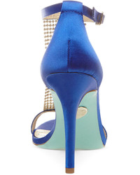 74ad72383 Betsey Johnson Blue By Mesh Evening Sandals, $149   Macy's ...