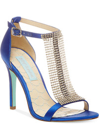 Betsey Johnson Blue By Mesh Evening Sandals