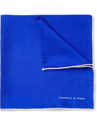 Blue Silk Pocket Square