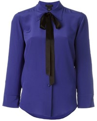 Marc Jacobs Crpe De Chine Bow Shirt