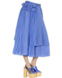 Rochas Cotton Silk Voile Skirt W Ruffles