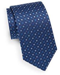 Saint Laurent Square Pattern Silk Tie