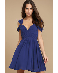 Come away with me royal blue skater dress medium 4990340