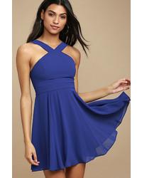 Forevermore royal blue skater dress medium 4990339