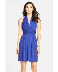 Andrew Marc Marc New York By Chiffon Halter Fit Flare Dress