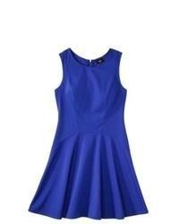 Mossimo Sleeveless Ponte Skater Dress Blue Xxl