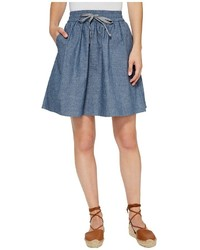 Alternative Chambray Skater Skirt Skirt