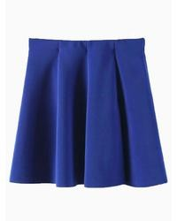 Choies blue skater skirt medium 39607
