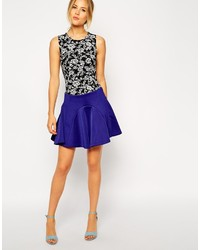 Collection skater skirt with paneled seams medium 160256