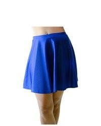 Soho Girl Nylon Skater Skirt Cobalt