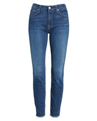 7 For All Mankind B Raw Hem Ankle Skinny Jeans