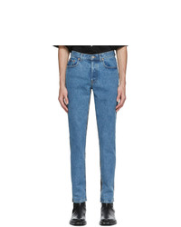 Vetements Blue And Black 50 50 Jeans