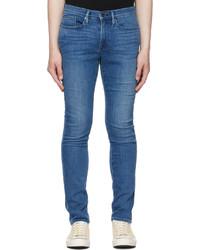 Frame Blue Stretch Lhomme Skinny Jeans