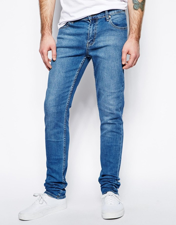 Cheap Monday Jeans Tight Skinny Fit In Base Dark Blue | Where to ...