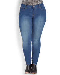 Forever 21 Classic Wash Skinny Jeans