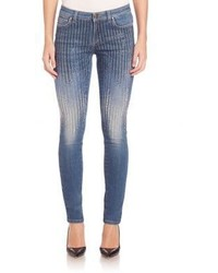 Versace Collection Sequin Skinny Jeans