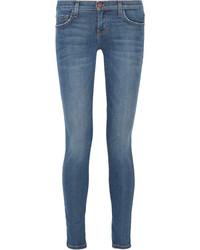 Current/Elliott The Ankle Mid Rise Skinny Jeans Mid Denim
