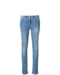 Versace Embroidered Medusa Slim Jeans
